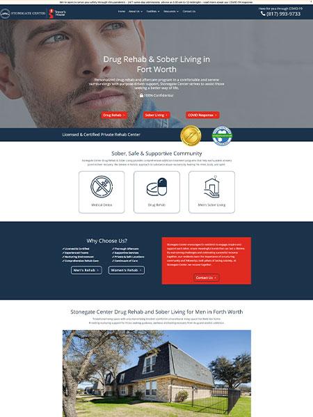 Maxeemize Online Marketing - Stonegate Center Drug Rehab & Sober Living Website Design
