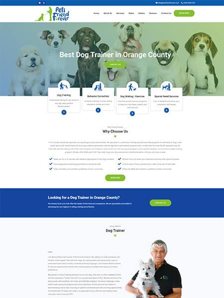 Maxeemize - Orange County Online Marketing - Pets Friend Forever Website Design