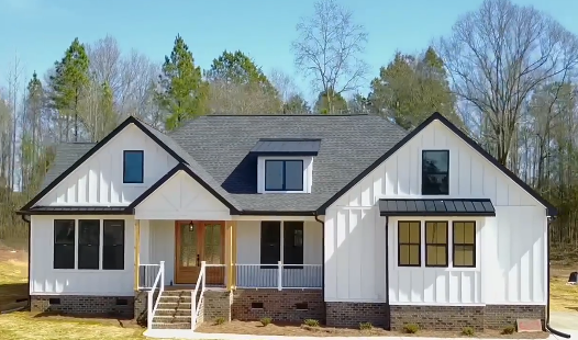 Recently built modern farm house by Turn Key Home Builders