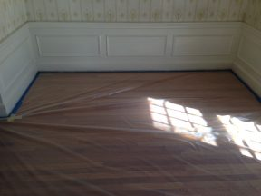 floor protection for lead paint