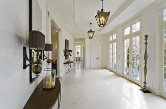 sunny interior luxury marble home