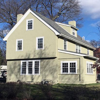 freshly painted houses