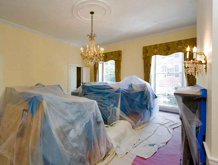 Interior House Prepped by Painting Contractors for interior home painting