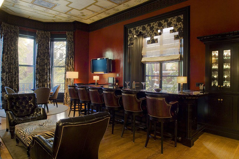 stunning bar in boston's back bay