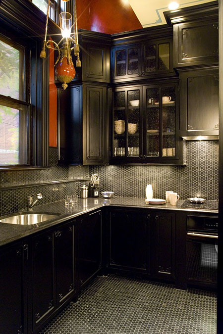 freshly painted kitchen in boston's back bay