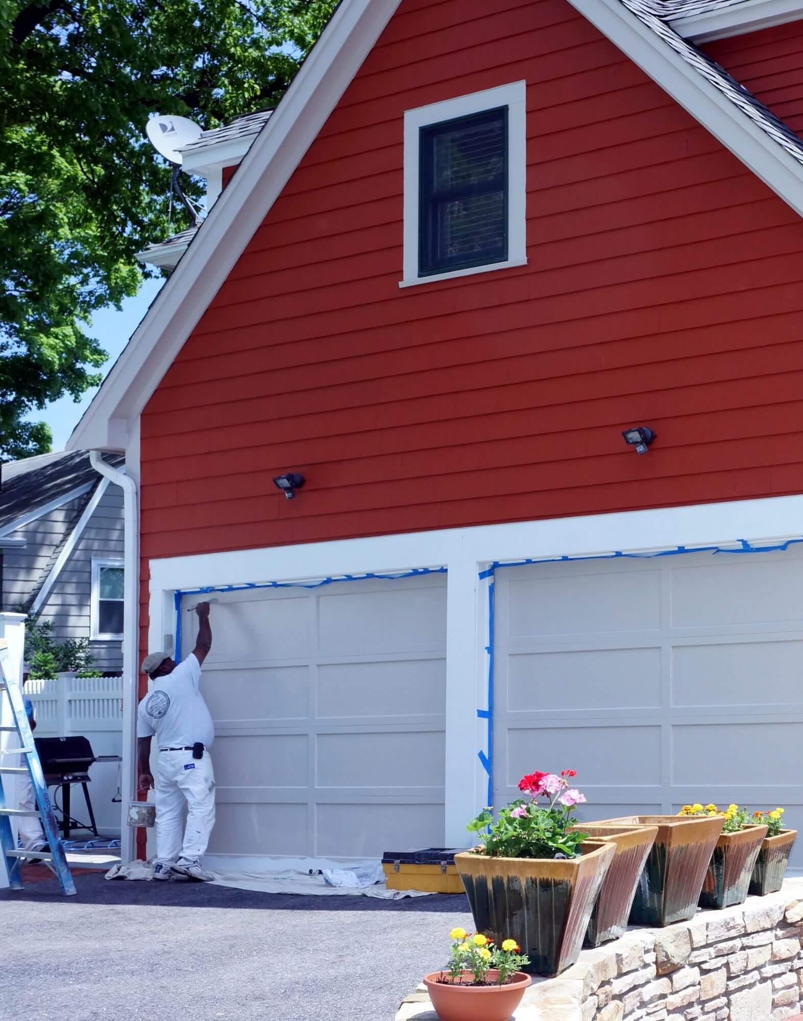 Catchlight team mate painting exterior door