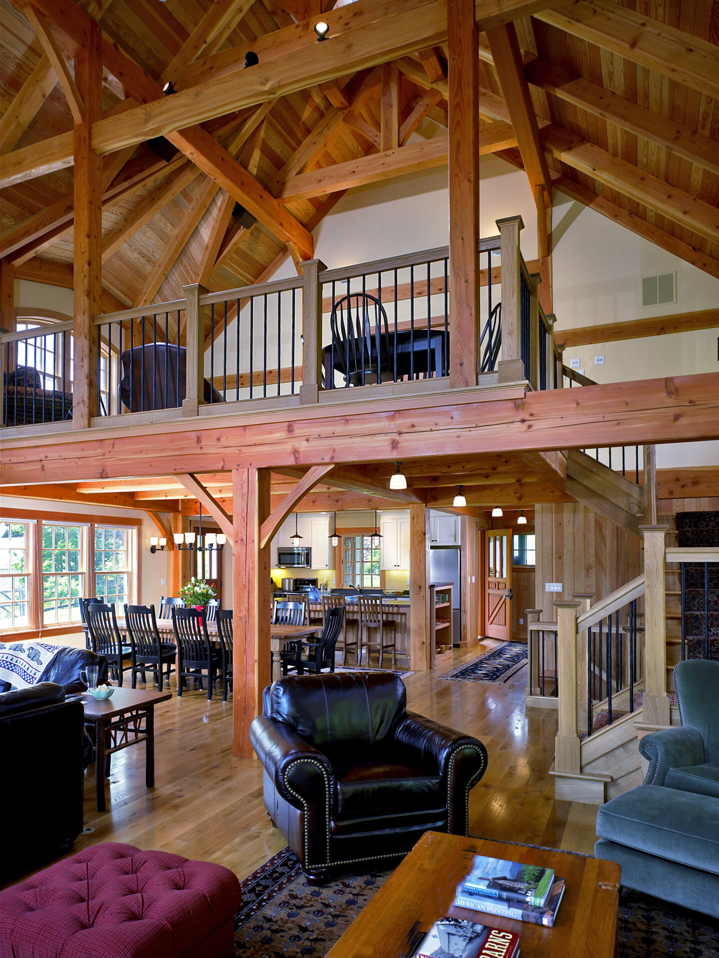 interior view of a two story house near Wellesley