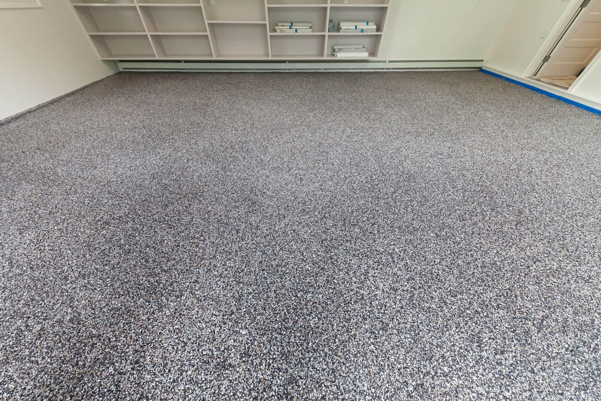 finished garage epoxy floor coating