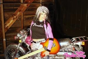LYNN JULIAN as CCG POP SUPERHERO for PHOTO SHOOT for FENDER Guitars in Boston, MA
