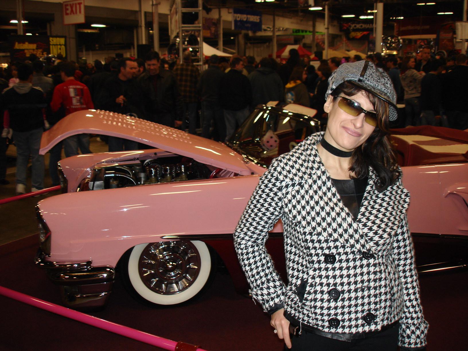 Lynn Julian-Car Show 2010-Houndstooth Jacket-Cap-Hat