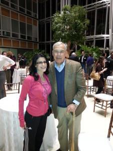 Lynn Julian, Boston Actress and musician, with Boston Mayor, Thomas Menino
