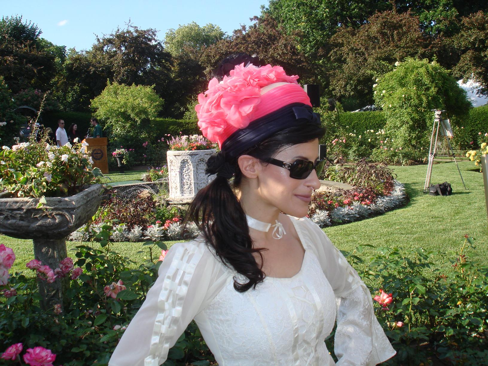LYNN JULIAN in photo shoot for Rose Garden Party in Boston, MA