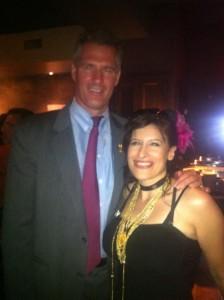 Lynn Julian, Boston Actress and musician, with Senator, Scott Brown