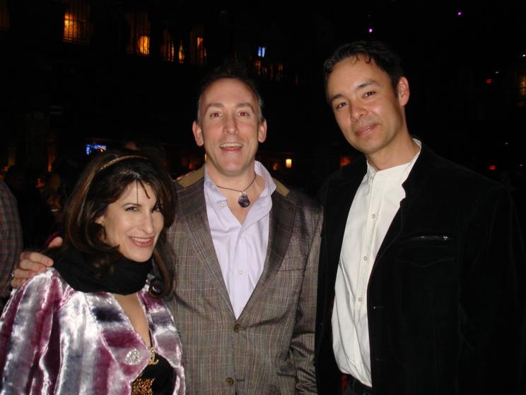 Lynn Julian, Boston Actress, with jonathan soroff, Super Socialite and writer for Improper Bostonian Magazine.