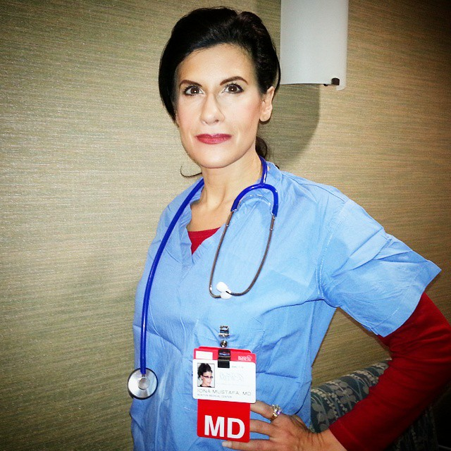 Lynn Julian, Boston Actress, as a surgeon Boston Medical Center Industrial Film.
