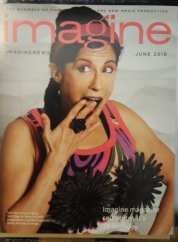 LYNN JULIAN, Boston Actress, on COVER of IMAGINE MAGAZINE.