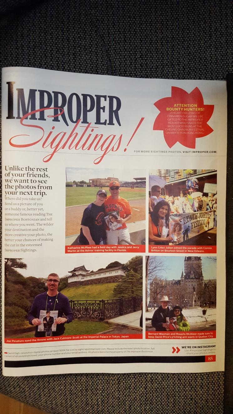 Lynn Julian, Boston Actress, in New Orleans...and in Improper Bostonian Magazine.