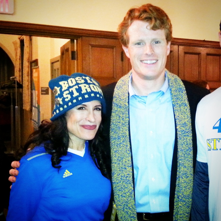 Lynn Julian, Boston Actress and musician, with Massachusetts Congressman, Joe Kennedy