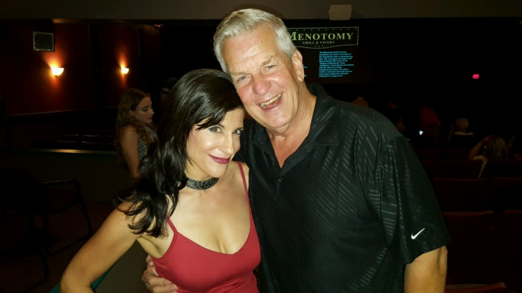 """LYNN JULIAN, Boston Actress, with comedian, Lenny Clarke at Film Premiere for """"Lazarus Rising."""""""