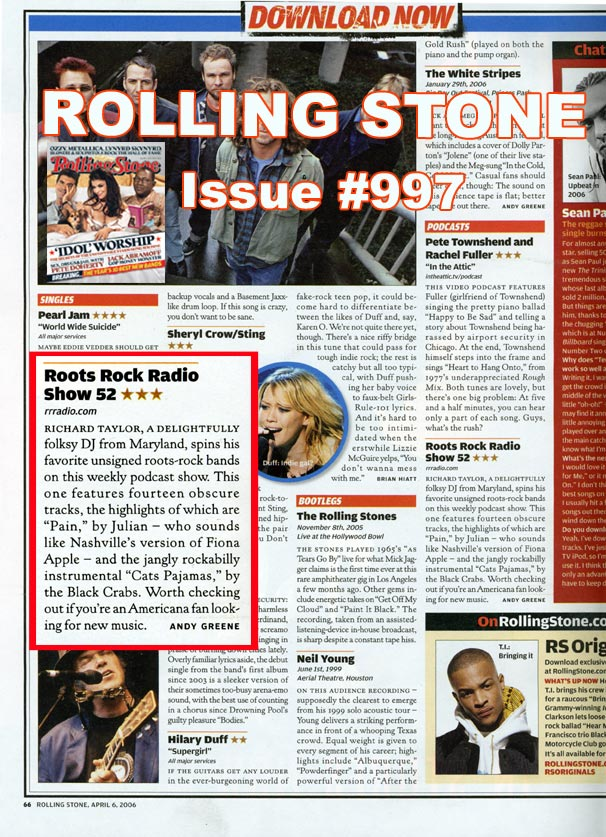 LYNN JULIAN, Boston Actress and Musician, music review in ROLLING STONE magazine.