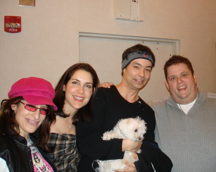 Lynn Julian, Boston Actress, with comedians, Ralphie May and Lahna Turner