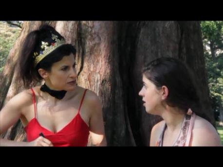 """Lynn Julian, Boston Actress, as the Prom Queen AKA Red Queen for film short, """"Scrambled Summer"""""""