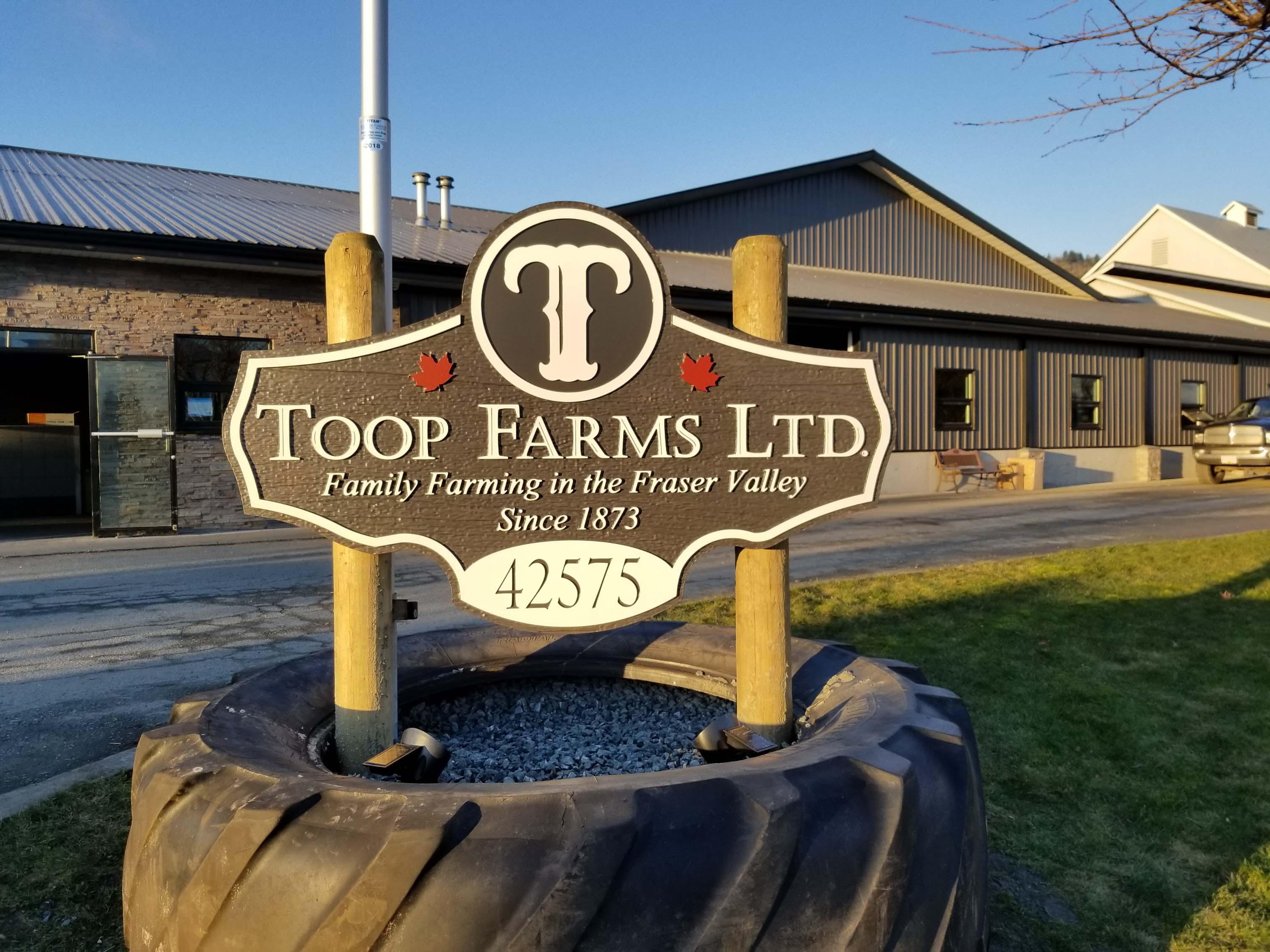 Dimensional Farm Sign