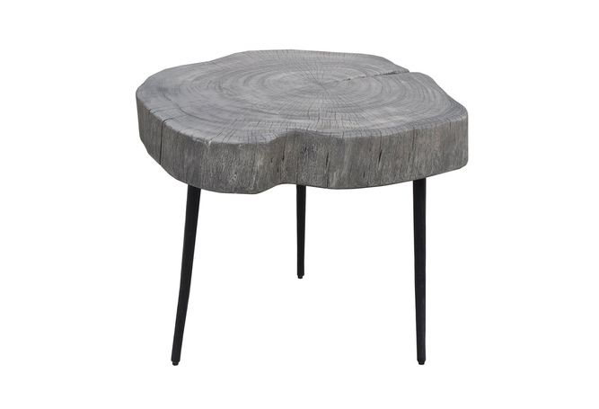 Trunk End Table - Grey