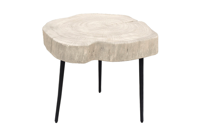 Trunk End Table - White