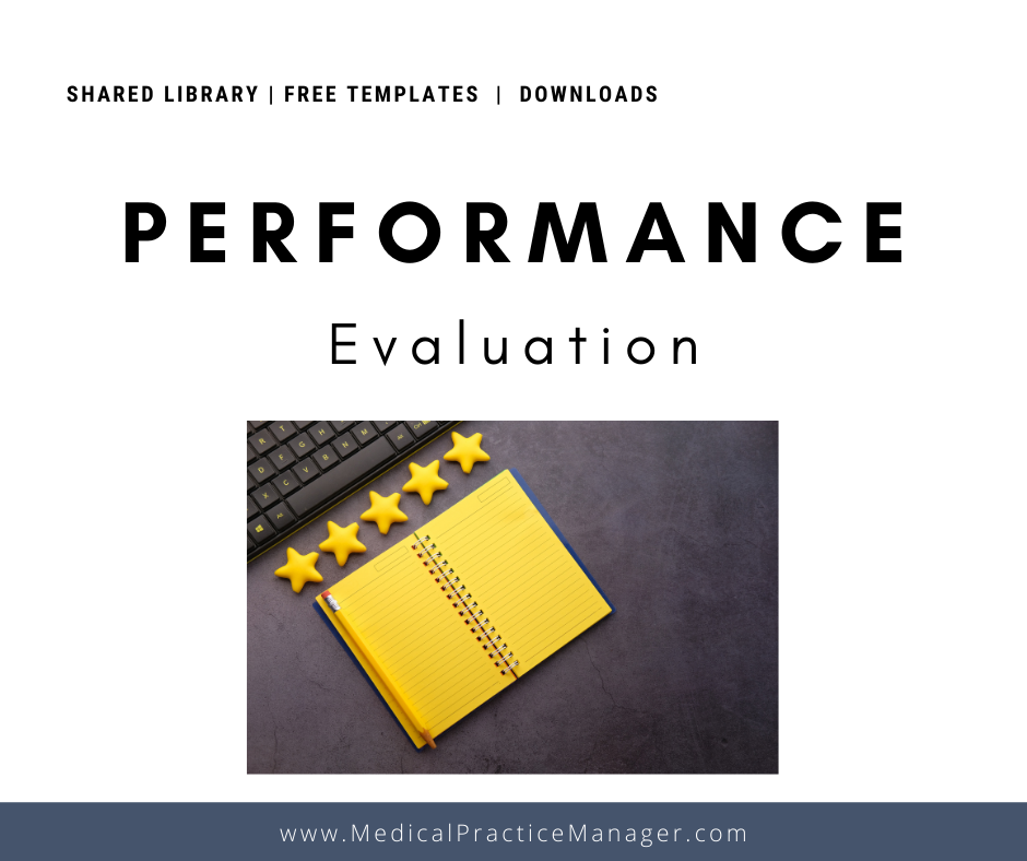 employee performance evaluation template for medical practices