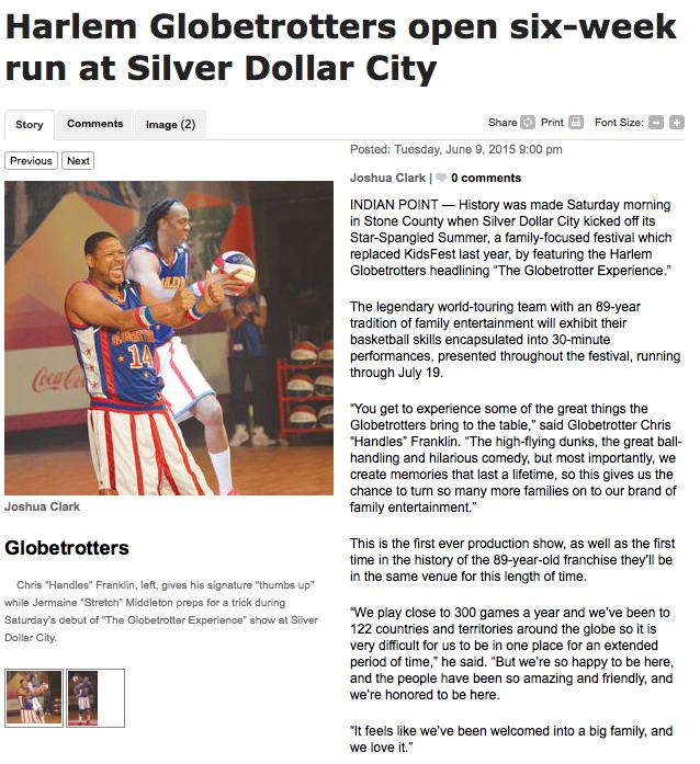 Harlem Globetrotters open six-week run at Silver Dollar City