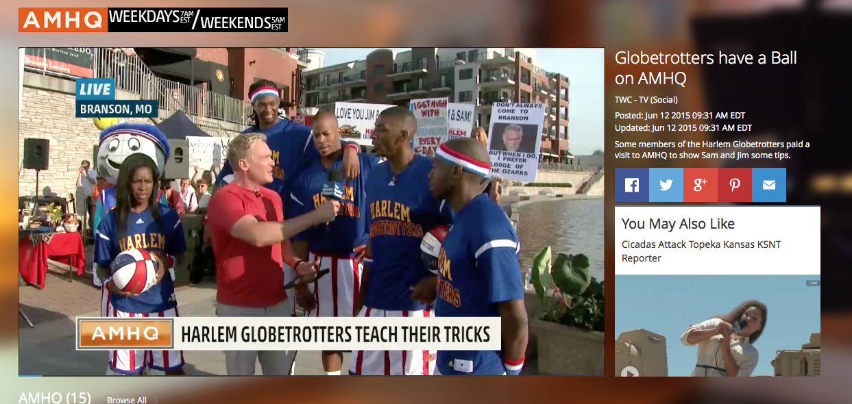 The Weather Channel at Branson Landing with The Harlem Globetrotters