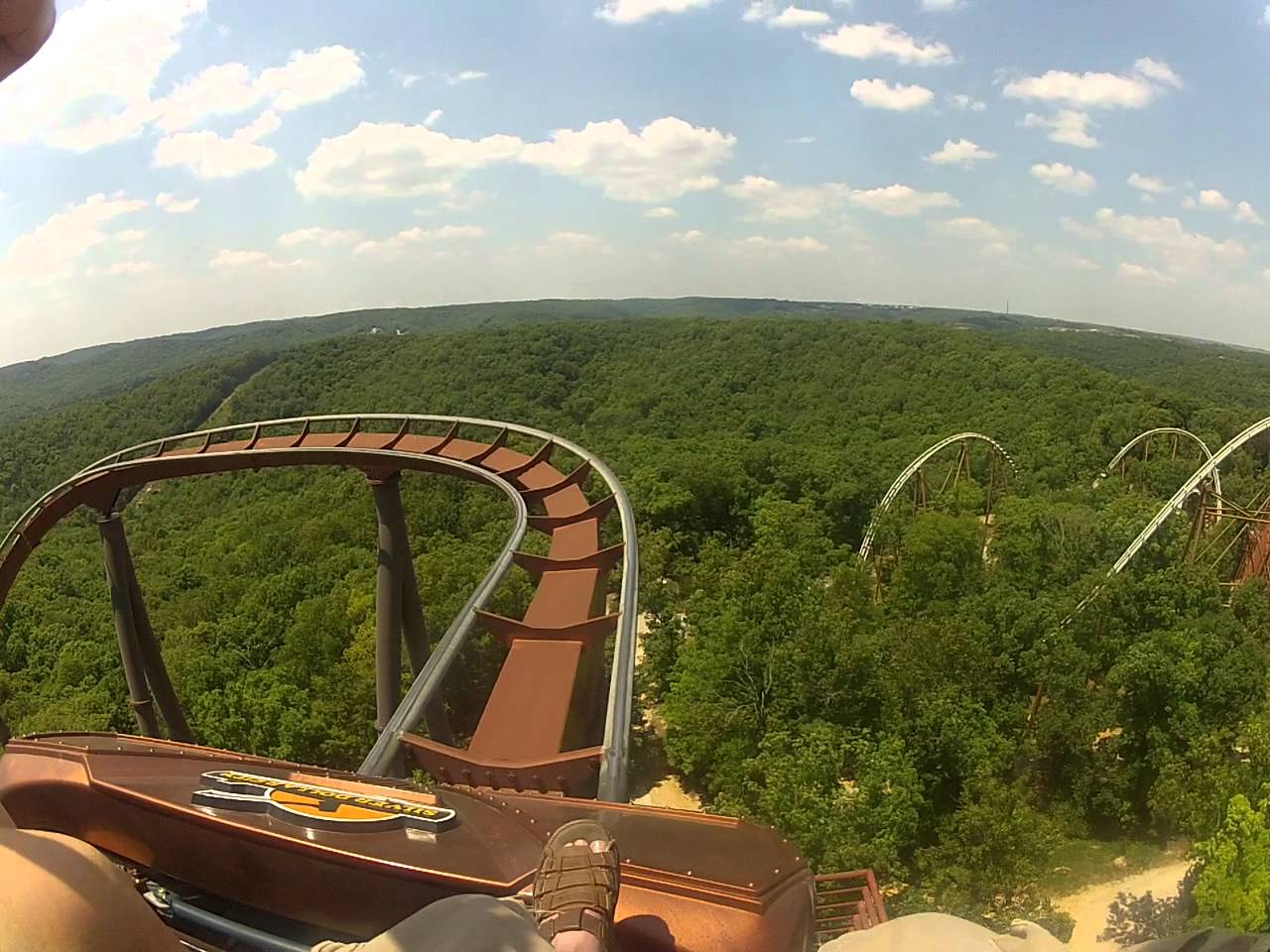 Wildfire Rollercoaster at Silver Dollar City (Branson MO) Front Seat POV