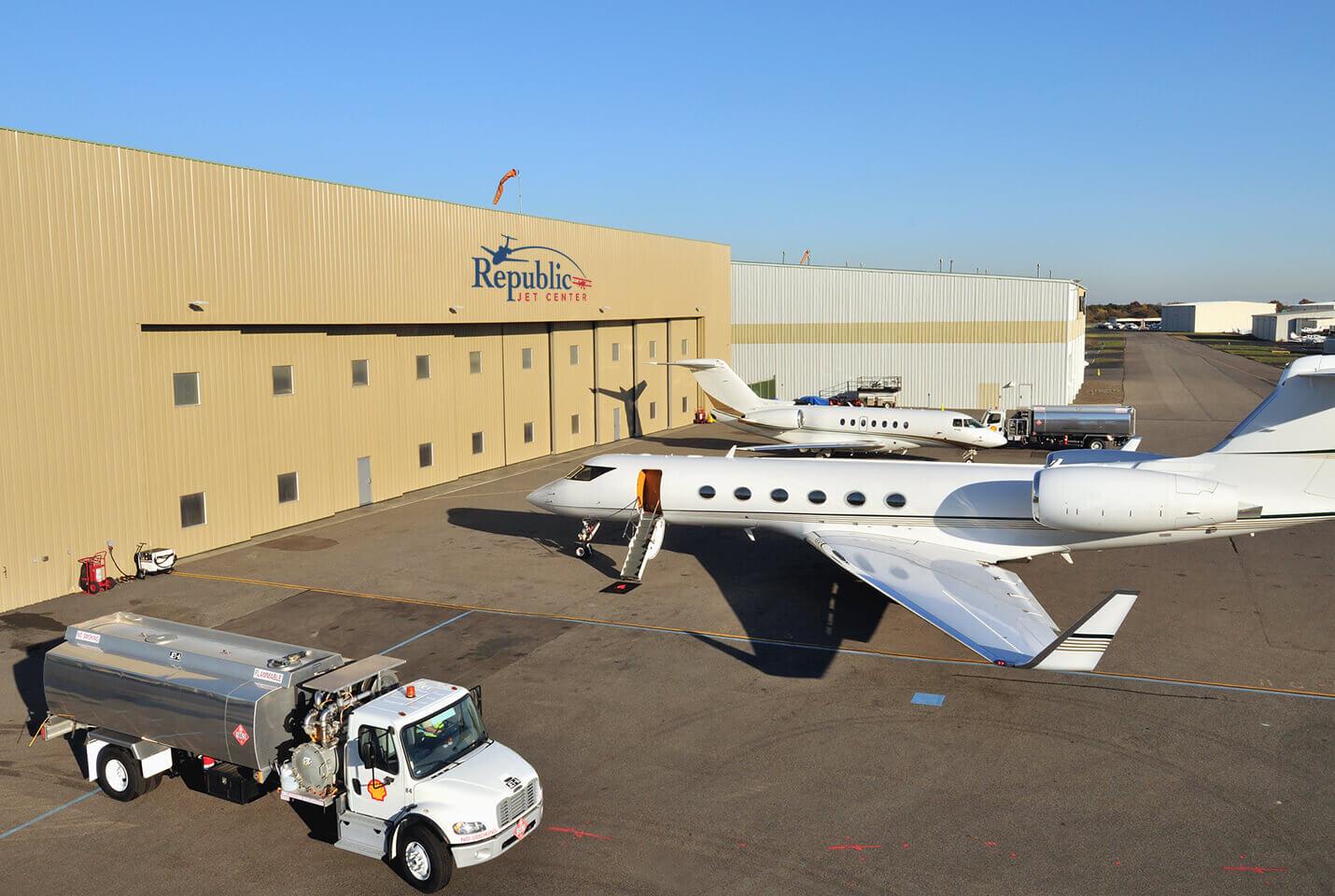 Hangar at Republic Jet Center