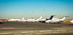 FBO Private Planes Parked