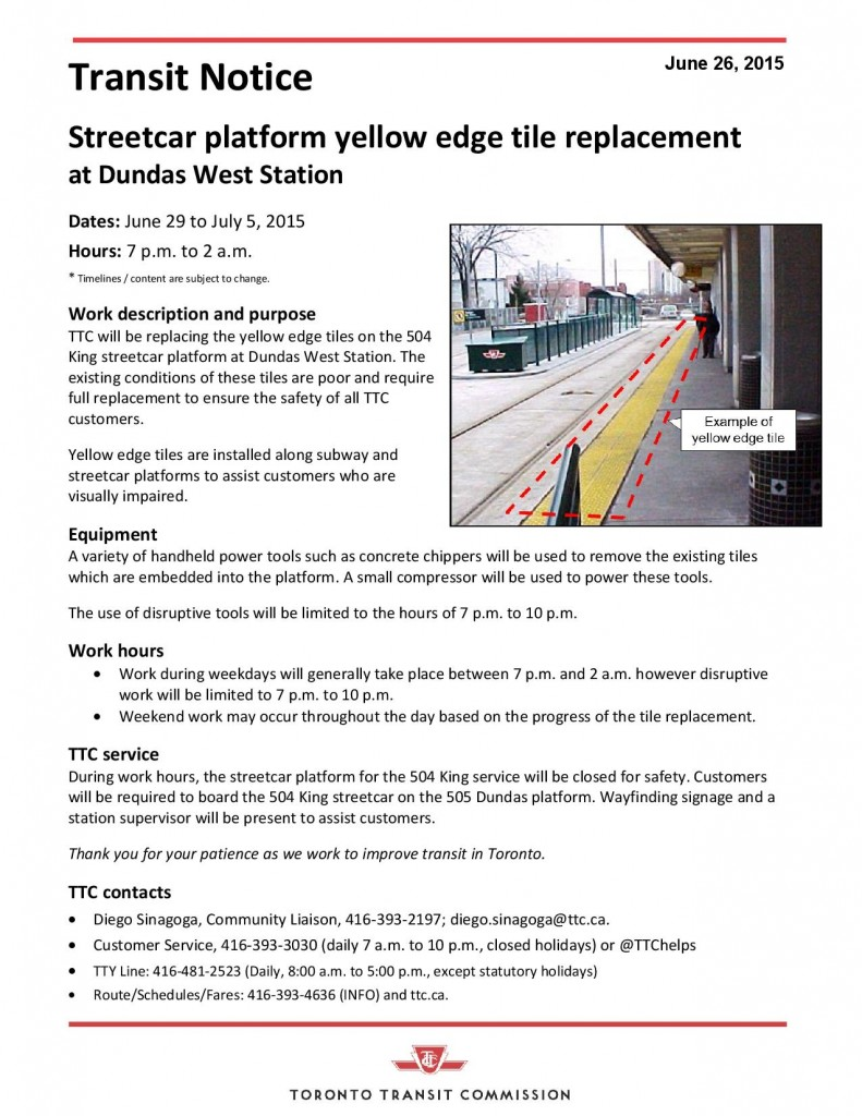 TTC Notice - tile replacement at Dundas W Stn-page-001