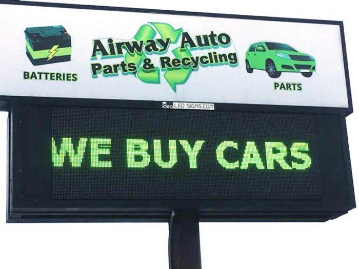 Scrap car in Springfield, Michigan.