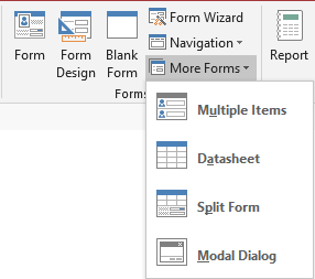 More Forms options