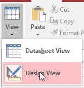 Access  Design View