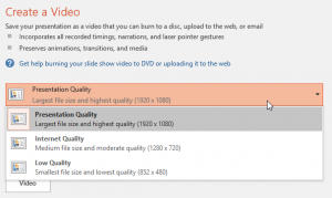 Turn a PowerPoint Presentation into a Video - Video Quality