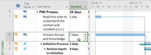 ms project calendar days - 7 days