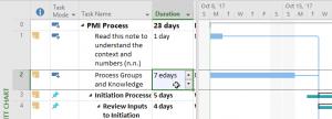ms project calendar days - 7 edays