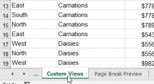 Finding worksheets in Excel - selected worksheet found