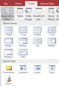Application parts - templates