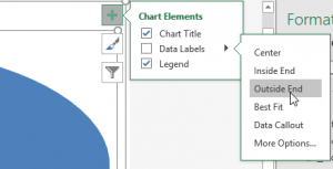 Adding Data Labels in Excel - Pop out menu