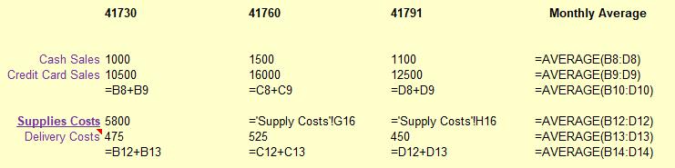 Show Excel Formulas Shortcuts - Spreadsheet
