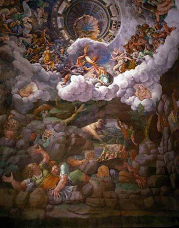 Afterlife,Apollo 2,Artemis,Athena,Ba'al 1,Babylon 1,Canaan 1,Collins,Enoch, (Book of),Fallen Angels,Genealogy 1,Genesis 1,Gnosticism,Goliath,Hades,Helios,Hermes 1,Hittite,Judaism 1,Kronos, Chronos, Cronos,Liberalism 1,Mount Hermon,Necromancy,Netherworld,Olympus,Owl,Philistines,Rephaim (Rephaites),Saturn 1,Seth,Sumer,Sun God,Talmud 2,Tartarus,Theogony,Titans,Underworld 1,Yahweh,Zeus 1