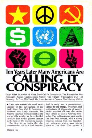Antisemitism 1,Avatar,Kissinger,Manhattan,Marx 2,Nixon,Propaganda 1,Reagan,Reserve,Reynolds,Rockefeller,Socialism 1,Spirits 2,Vril,World Government