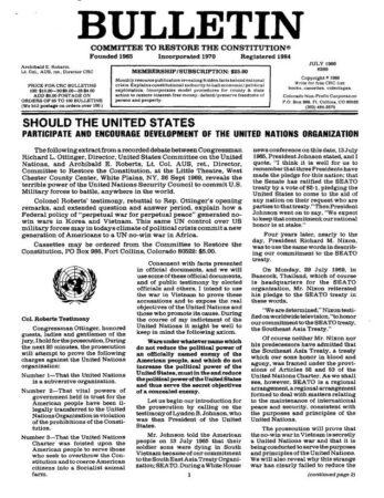 Communism 3,Eugenics,Foreign,Nixon,Propaganda 3,Socialism 3,UNESCO,United Nations 2,World Government