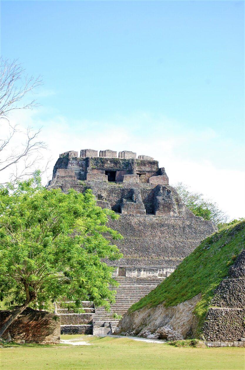 Maya Pyramid Lamanai Living in Cayo District Belize